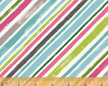 Catnip - Diagonal Stripes 3 by Janelle Penner for Whistler Studios from Windham Fabrics