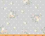 Roslyn - Dotted Floral Gray by Whistler Studios from Windham Fabrics