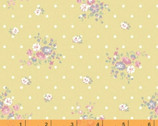 Roslyn - Dotted Floral Mustard Yellow by Whistler Studios from Windham Fabrics