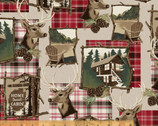 Home Sweet Cabin - Framed Montage from Whistler Studios from Windham Fabrics