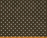 Julia - Dots Charcoal Dark Brown by Whistler Studios from Windham Fabrics