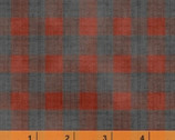 Farm Living - Check Gray Rust by Jeanne Horton from Windham Fabrics