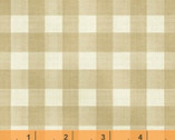 Farm Living - Check Beige Tan by Jeanne Horton from Windham Fabrics