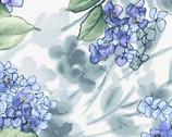 Watercolor Hydrangeas - Lavender Hydrangea White from Maywood Studio Fabric