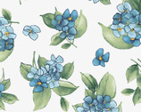 Watercolor Hydrangeas - Hydrangea Posy Blue from Maywood Studio Fabric