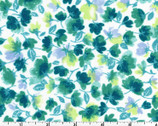 Rejuvenation - Little Flowers Teal Green from Maywood Studio Fabric