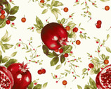Bountiful - Pomegranates Cream from Maywood Studio Fabric