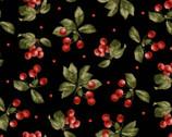 A Fruitful Life - Cherries Black from Maywood Studio Fabric