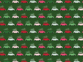 Merry and Bright - Vehicles Cars Green from Riley Blake Fabric