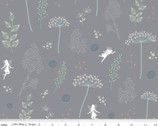 Fairy Edith - Wildflowers Gray by Amanda Castor from Riley Blake Fabric