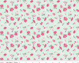 Flowers Novelty Mint from Riley Blake Fabric