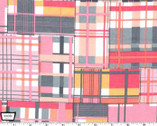 Madras Patch FLANNEL - Pink from Michael Miller Fabric