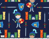 Good Knight - Knights Midnight Blue from Michael Miller Fabric