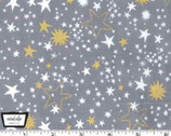 Cat's Cradle - Night Lights Star Pewter Gray from Michael Miller Fabric