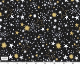 Cat's Cradle - Night Lights Star Black from Michael Miller Fabric