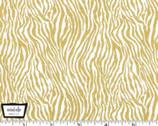 Glitter Critters Metallic - Mini Zebra Stripe Gold from Michael Miller Fabric