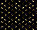 Batman 80 Years - Batman Emblem Black from Camelot Fabrics