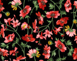 Prose - Medium Floral Black from Maywood Studio Fabric