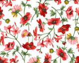 Prose - Medium Floral White from Maywood Studio Fabric