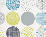 Simple Land II OXFORD - Geometric Circles White Cool Colors from Cosmo Fabric