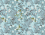 Mermaids and Unicorns - Floral Blue from In The Beginning Fabric