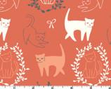 Pirouette POPLIN - Cats by Arleen Hillyer from Birch Fabrics