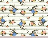 Pirouette POPLIN - Rosette Stripes by Arleen Hillyer from Birch Fabrics