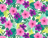 Flamingo Beach - Tropical Floral by Chelsea DesignWorks from Studio E Fabrics