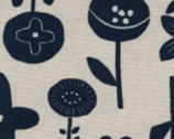 Simple Life CANVAS - Flower Plants Natural from Kokka Fabric