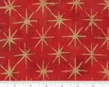 Grunge Seeing Stars Metallic - Cherry Red 23M by BasicGrey from Moda Fabrics