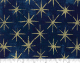 Grunge Seeing Stars Metallic - Navy Dark Blue 39M by BasicGrey from Moda Fabrics