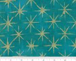 Grunge Seeing Stars Metallic - Ocean Turquoise 41M by BasicGrey from Moda Fabrics