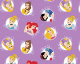 Disney Princess Forever - Princess Circles Purple Lavender from Camelot Fabrics