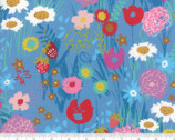 Growing Beautiful - Flowers Blue by Crystal Manning from Moda Fabrics