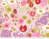 Growing Beautiful - Flowers Pink by Crystal Manning from Moda Fabrics