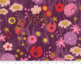 Growing Beautiful - Flowers Plum Purple by Crystal Manning from Moda Fabrics