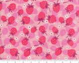 Growing Beautiful - Strawberries Florals Pink by Crystal Manning from Moda Fabrics