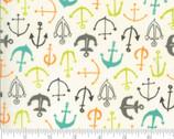 Fish Tales - Anchors Multi from Moda Fabrics