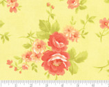 Chantilly - Flowers Rose Toss Sprout by Fig Tree Quilts from Moda Fabrics