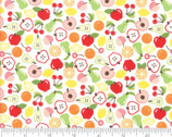 Orchard Bounty - Fruits White by April Rosenthal from Moda Fabrics