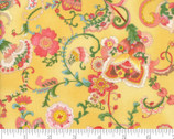 Coco - Flourish Lemon Yellow by Chez Moi from Moda Fabrics