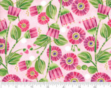 Sweet Pea Lily - Flowers Primrose Pink by Robin Pickens from Moda Fabrics