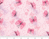Sweet Pea Lily - Butterfly Primrose Pink by Robin Pickens from Moda Fabrics