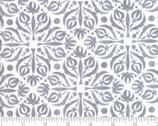 Sweet Pea Lily - Tile Medallion Lily White Gray by Robin Pickens from Moda Fabrics