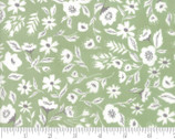 Garden Variety - Flowers Light Green Grass by Lella Boutique from Moda Fabrics