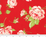Smitten - Rosey Red Rose Toss by Bonnie and Camille from Moda Fabrics