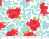 Little Snippets 54 Inch Lawns -Red Rose Aqua by Bonnie and Camille from Moda Fabrics
