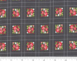 Little Snippets - Floral Grid Charcoal Grey by Bonnie and Camille from Moda Fabrics
