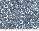 Oxford Prints - Flower Denim Dark Blue by Sweetwater from Moda Fabrics