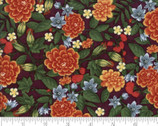 Fresh Off The Vine - Floral Eggplant Purple by Holly Taylor from Moda Fabrics
